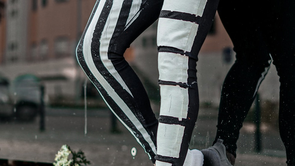INTOLERAVEL WHITE LINES JEANS