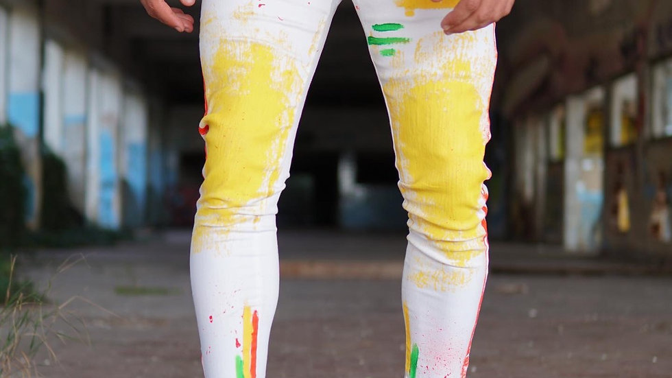 INTOLERAVEL RAINBOW WHITE JEANS