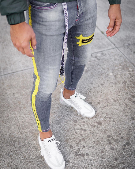 INTOLERAVEL YPL GREY JEANS