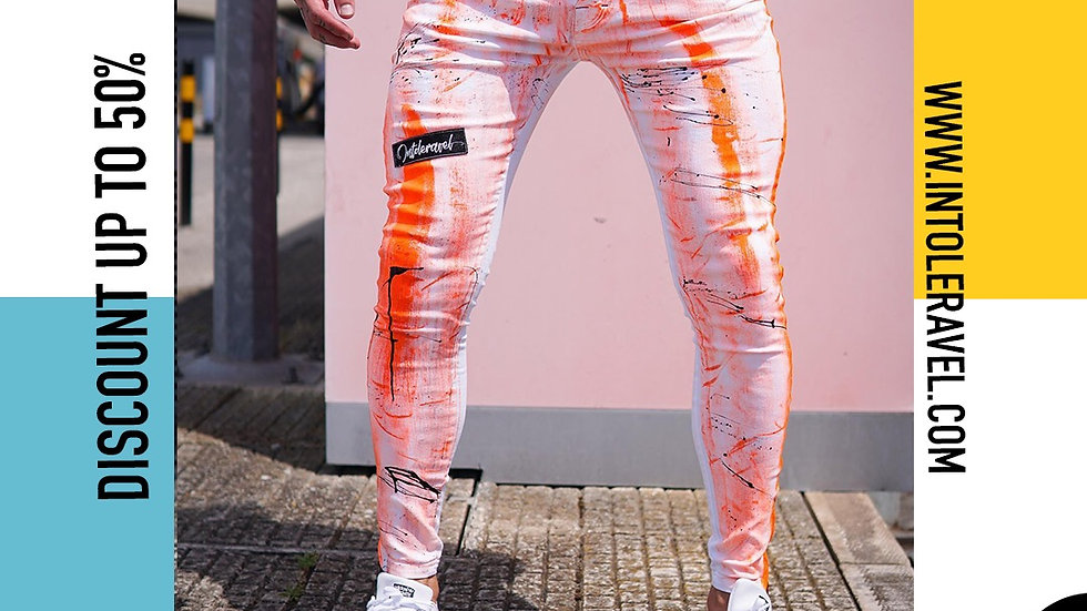 INTOLERAVEL BRUSH ORANGE JEANS