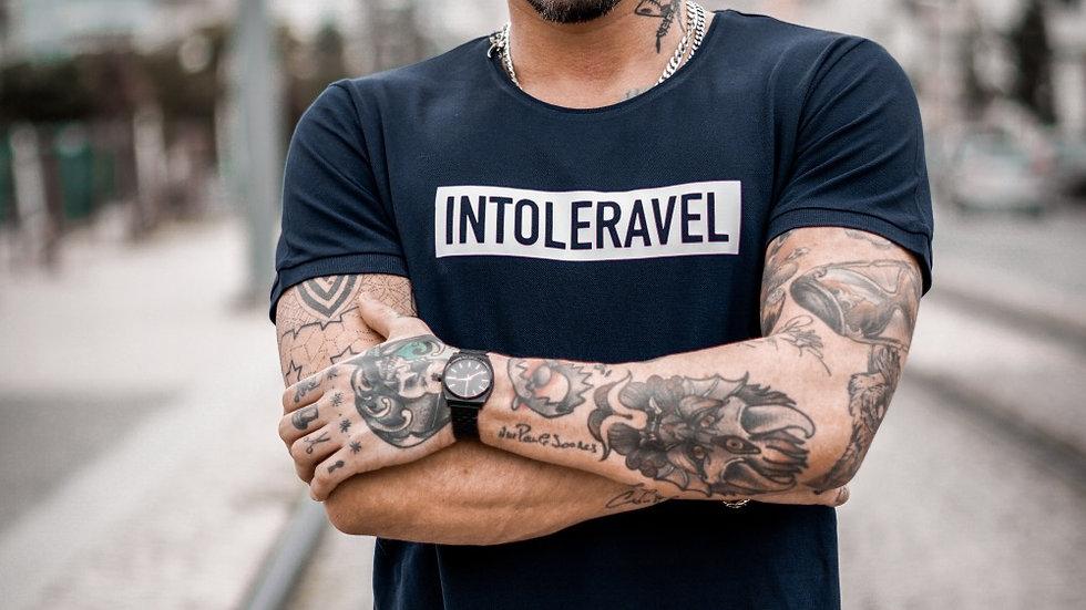INTOLERAVEL RECTANGLE BLUE T-SHIRT
