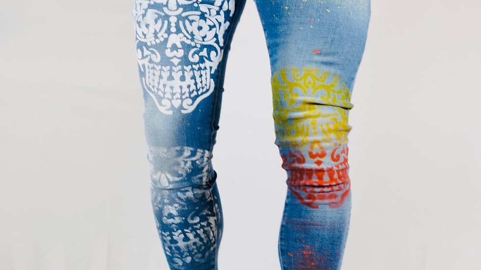INTOLERAVEL MEXICAN SKULL JEANS