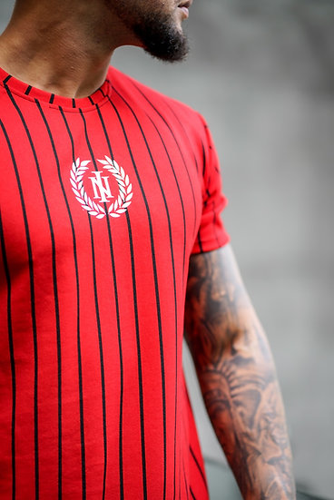 INTOLERAVEL RED STRIPS T-SHIRT