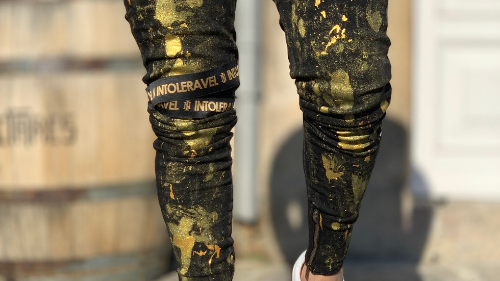 INTOLERAVEL NEW PRINT GOLD JEANS