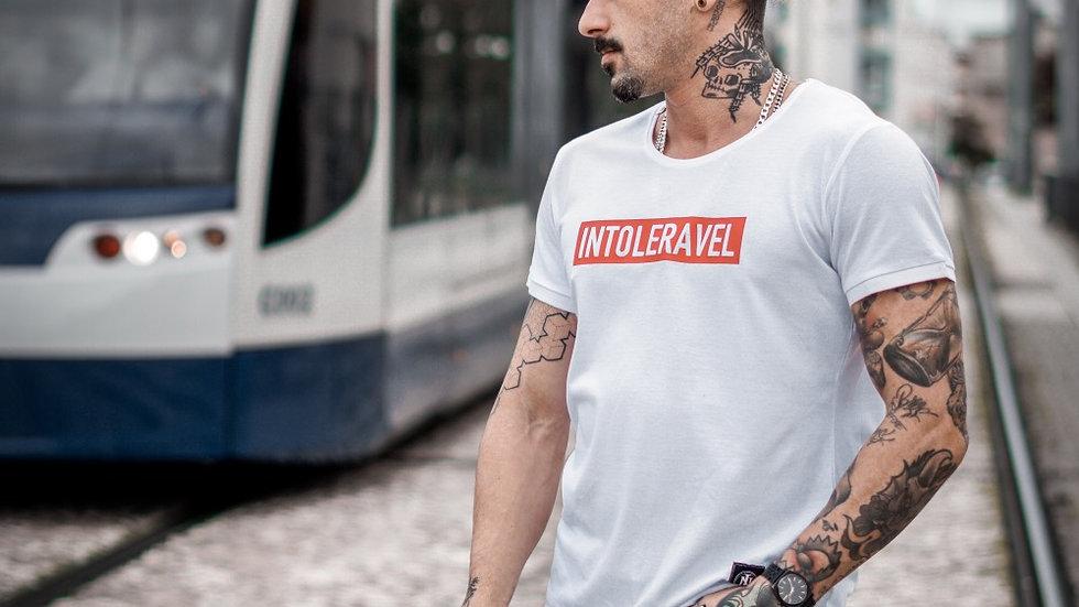 INTOLERAVEL RECTANGLE WHITE T-SHIRT