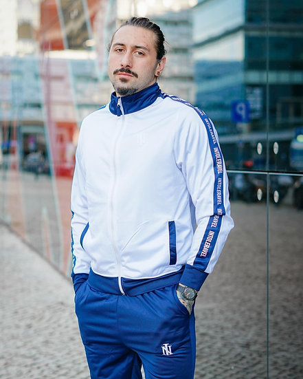 INTOLERAVEL TRACKSUIT WHITE BLUE