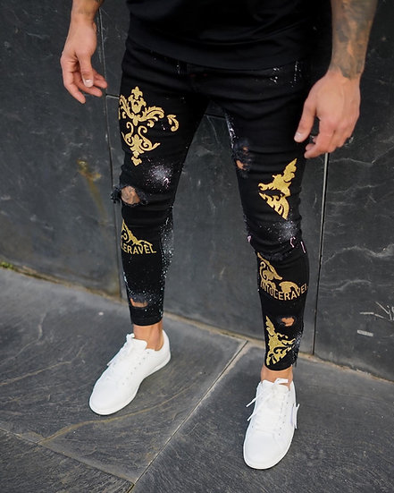 INTOLERAVEL DAMASK GOLD JEANS