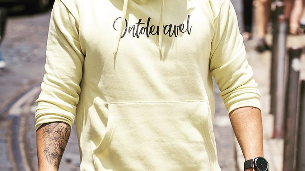 INTOLERAVEL LIGHT YELLOW SWEATSHIRT C/ CAPUZ