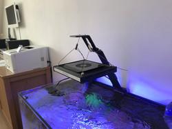 aquarium light support for slim LEDs