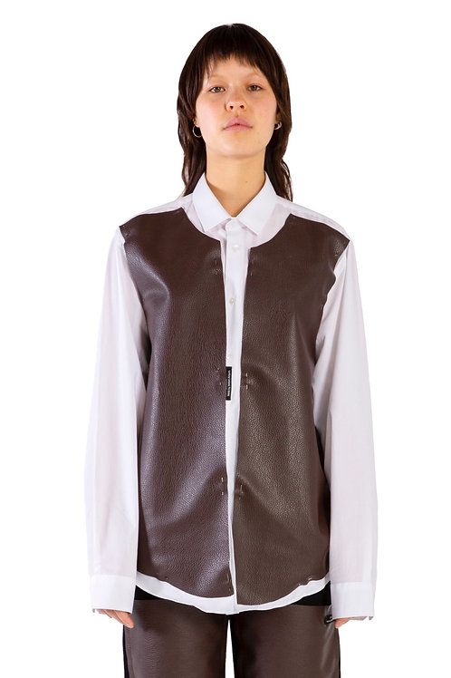 Aswan Leather Patch Shirt Womens