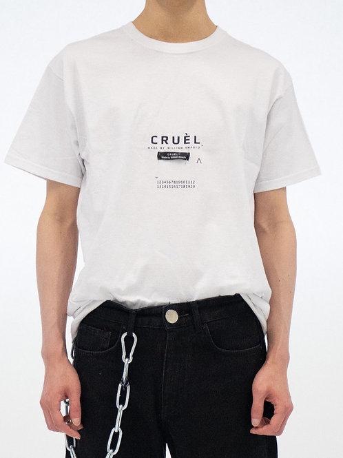CRUÈL Logo T-shirt Unisex White / Black