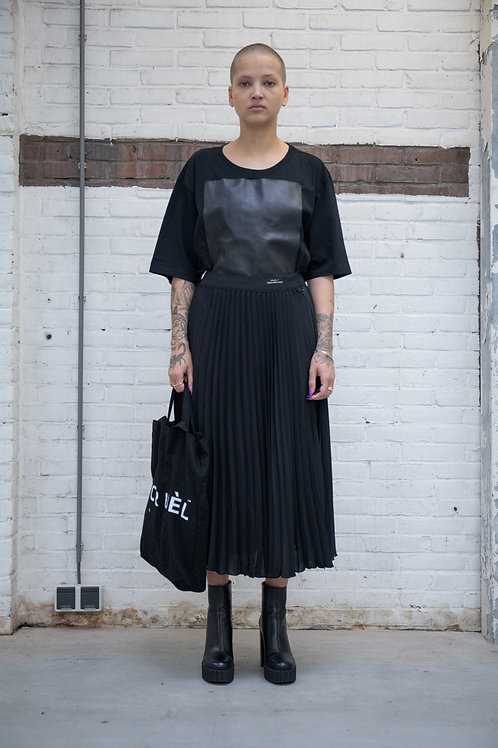 Leather Patch T-shirt Woman