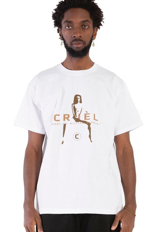 CRUÈL Silhouette Logo T-Shirt Mens