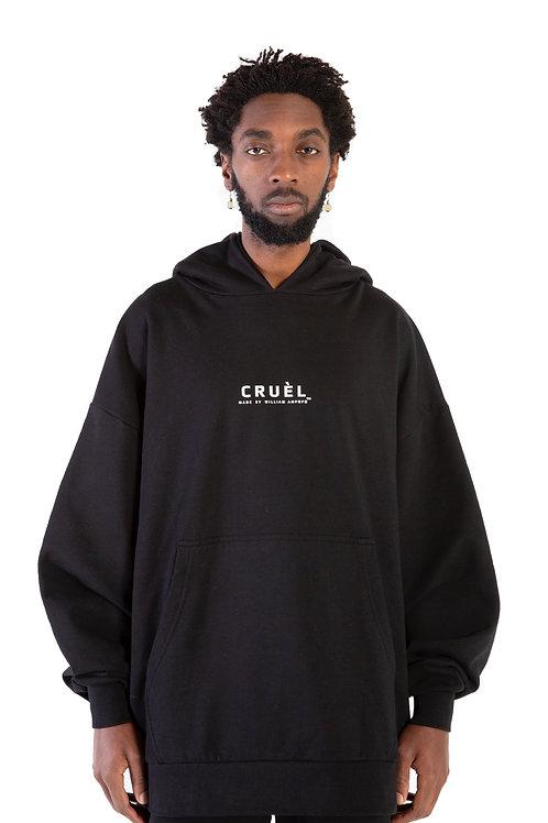 CRUÈL Oversized Logo Hoodie Black Mens