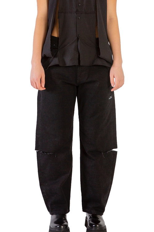 Zagazig Cut-Out Jeans Womens