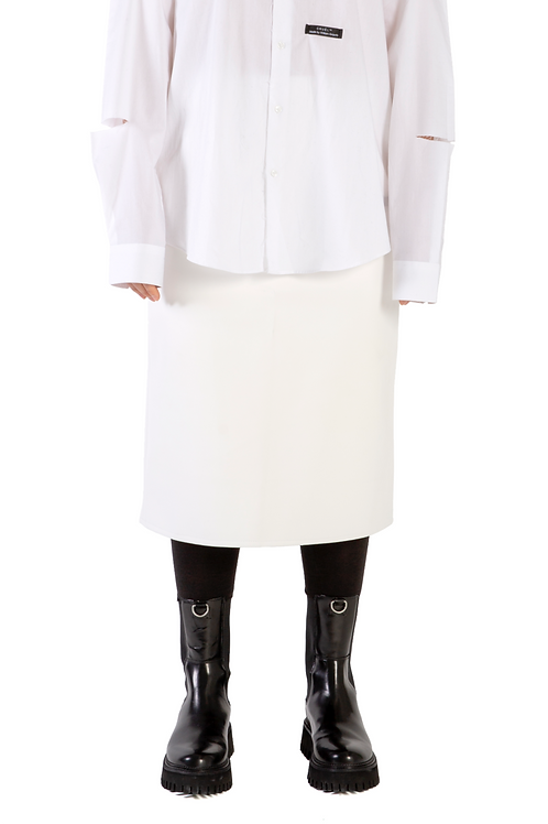 Suhaj Leather Skirt White Womens