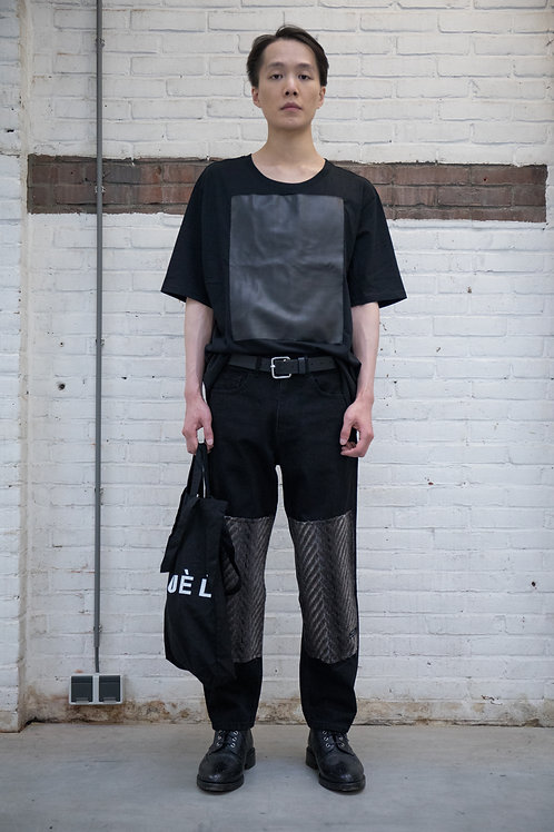 Leather Patch T-shirt Man
