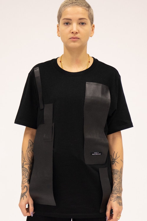 Ansan Leather T-shirt Woman