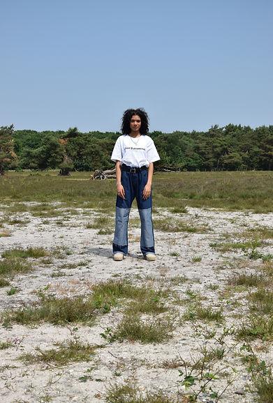 CRUÈL FW18 Serie One Lookbook - Patch Light Jeans Unisex
