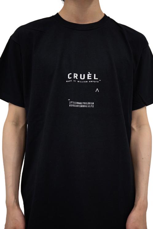 CRUÈL Logo T-shirt Unisex Black