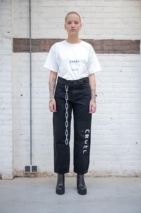 Cruèl Series Logo T-shirt Woman White