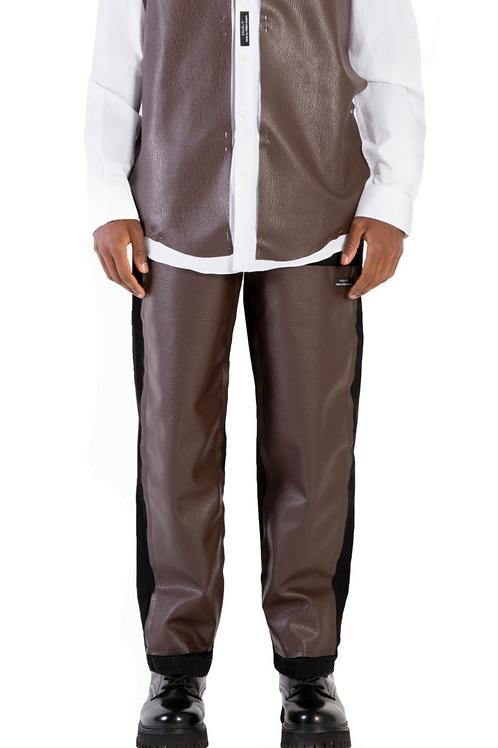 Desouk Leather patch Jeans Mens