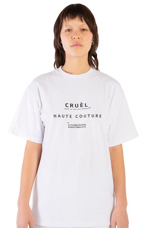 CRUÈL Couture T-Shirt White Womens