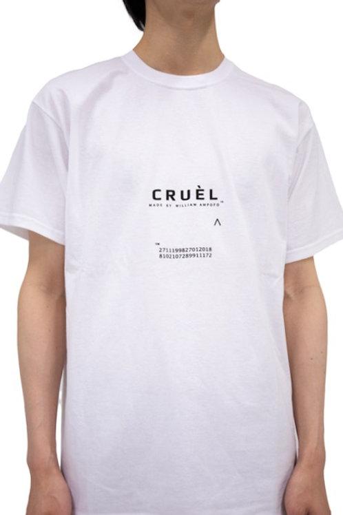 CRUÈL Logo T-shirt Unisex White