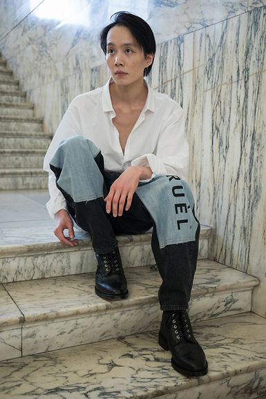 CRUÈL SS19 Serie Two Lookbook - Patch Shadow Jeans