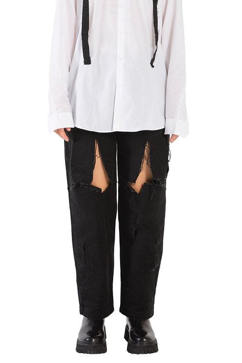 Khema Cut-Out Button Jeans Womens