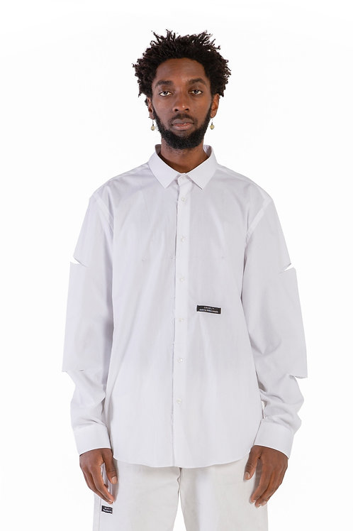 Minya Cut-Out Shirt White Mens