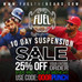 10 DAY SUSPENSION SALE