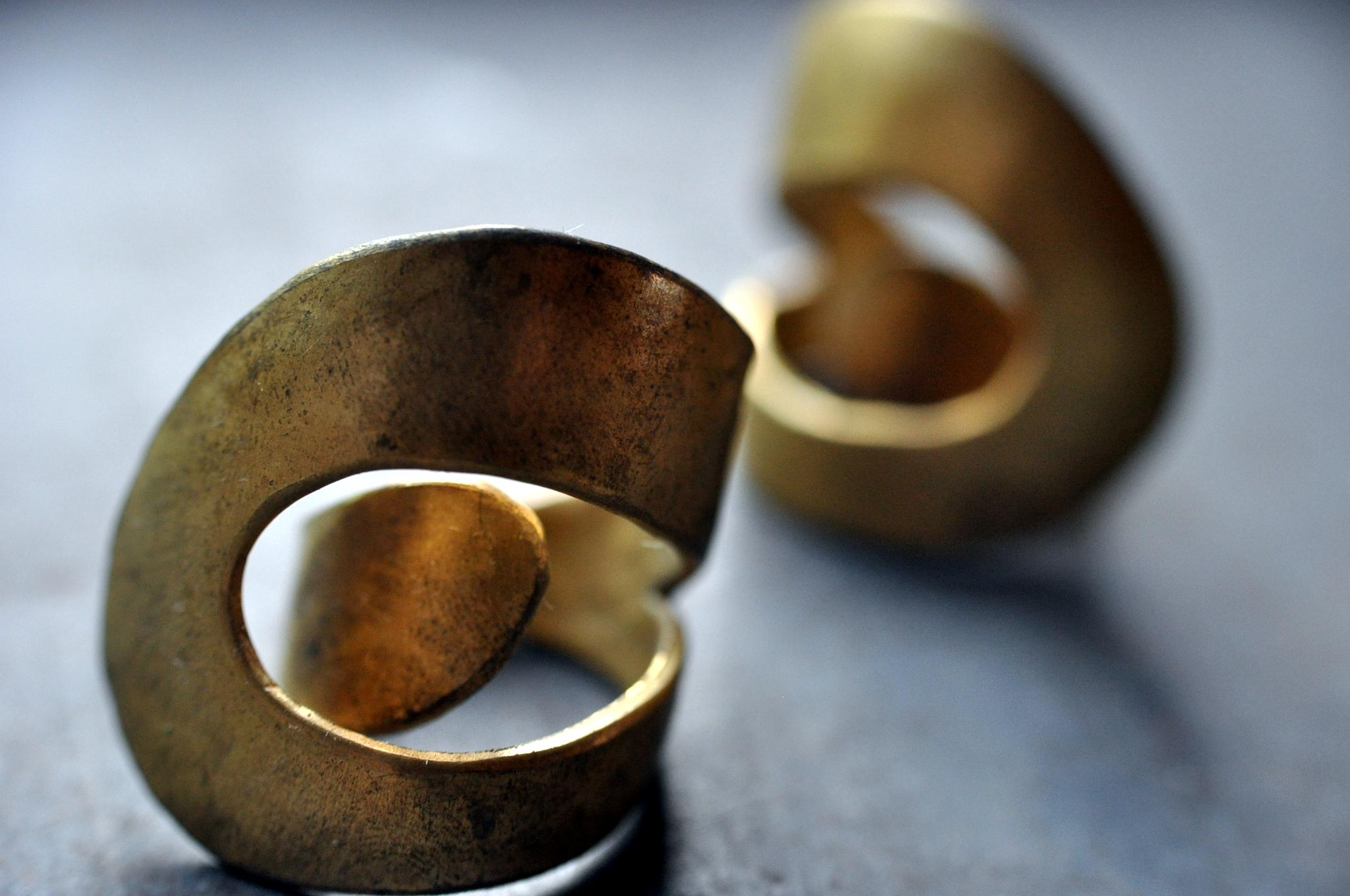 真鍮ひとまきリング