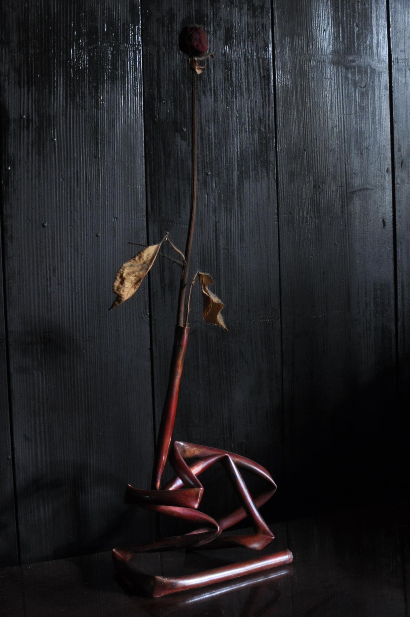 銅パイプ花器