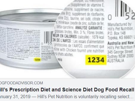 Hill's dog food recall