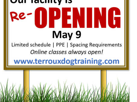 Re-opening may 9