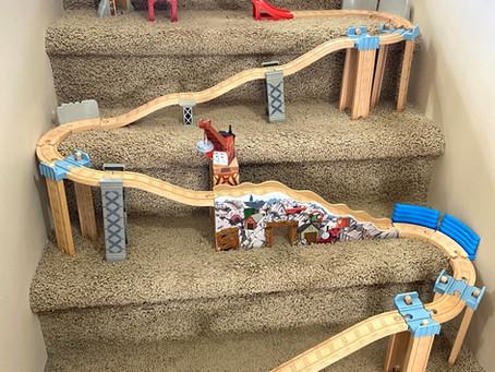 Wooden Railway Train Stair Build