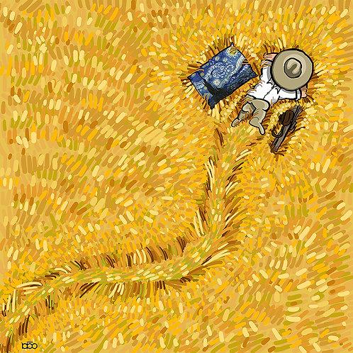Enjoy Sun in Wheat Farm