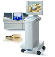Cerec machine and milling unit to manufacture crowns and bridges the same day.