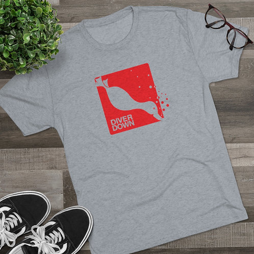 Diver Down Red on Grey