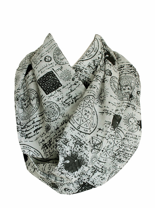 Magic Symbols Pentagram Wizard Infinity Scarf Gift For Her Circle Tube Scarf