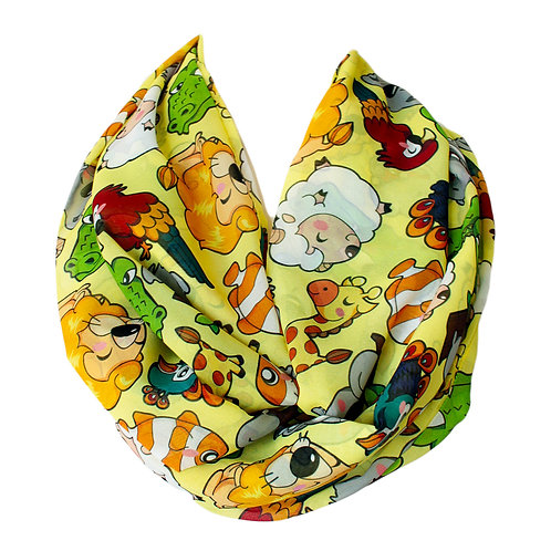 Cute Animals Infinity Scarf Gift For Her Girlfriend Christmas Birthda