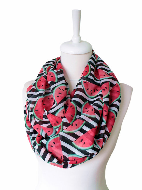 Watermelon Pieces Infinity Scarf Gift For Her Circle Tube Scarf Accessories