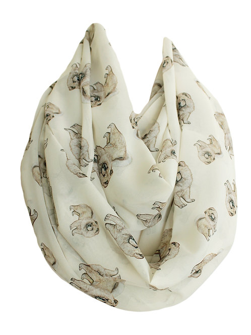 Chow Chow Dog Infinity Scarf Gift For Her Circle Tube Scarf