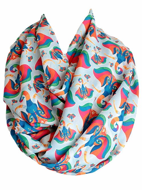 Asian Elephant Infinity Scarf Circle Tube Loop Scarf Accessories
