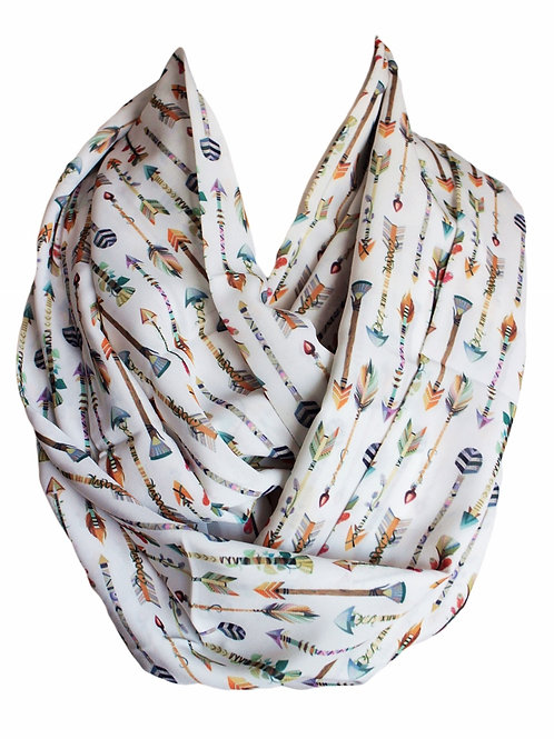 Arrows Infinity Scarf Gift For Her Circle Tube Scarf Accessories