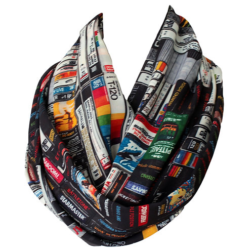 Video Tapes Design Infinity Scarf Gift For Her VHS Girlfriend Birthday