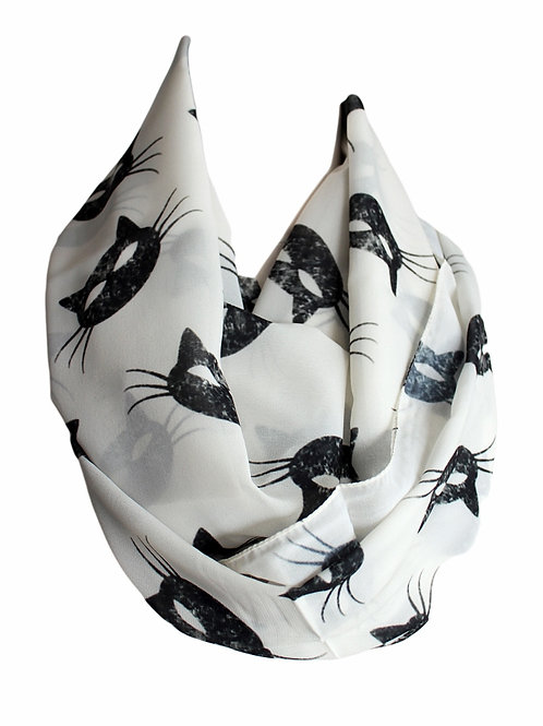 Cat Mask Infinity Scarf Gift For Her Circle Tube Scarf Accessories