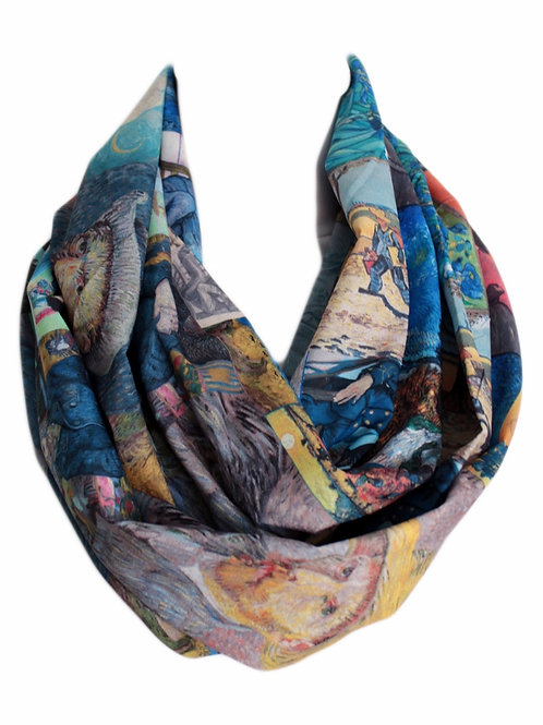 Van Gogh Paintings Infinity Scarf Gift For Her Circle Tube Scarf