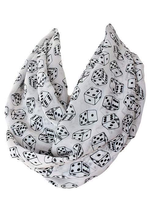 Dices Design Infinity Scarf Gift For Her Girlfriend Christmas Birthday